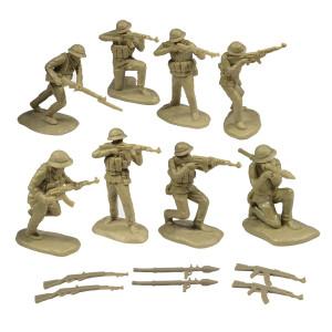 Toy Soldiers of San Diego TSSD Vietnam NORTH VIETNAMESE ARMY: 16 Khaki 1:32 Plastic Army Men Figures