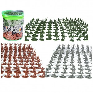 SNOWHALE Army Men Action Figures -soldiers of WWII- Big Bucket of Army Soldiers - 300 Piece Set
