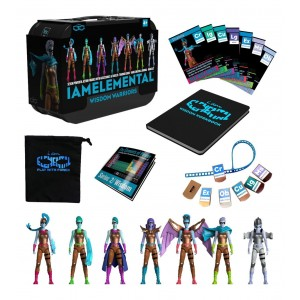 IAmElemental Series 2/Wisdom Complete Set of 7 Female Action Figures in Lunch Box Carry Case