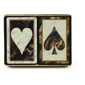 Congress Black Marble Jumbo Index Playing Cards