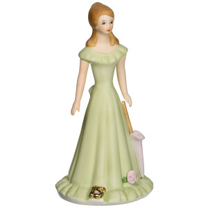 Growing up Girls from Enesco Brunette Age 15 Figurine 7 IN