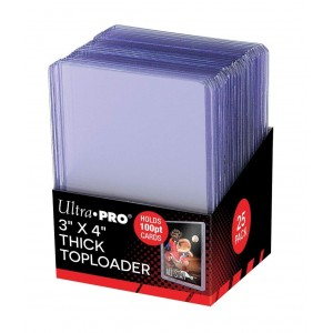 "Ultra Pro 3"" X 4"" Super Thick 100PT Toploader 25ct"