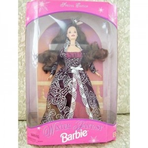 Mattel 1996 Winter Fantasy Barbie 2 Brunette - Sam's Club Exclusive
