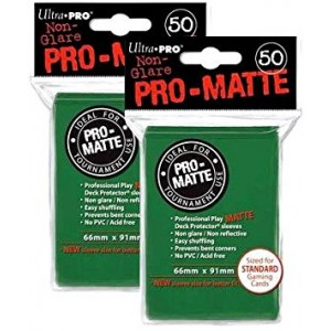 Ultra Pro PRO-MATTE (100 Count) Green Deck Protector Sleeves - Magic the Gathering