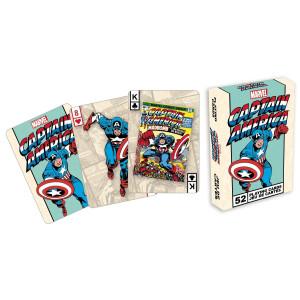 Aquarius Marvel Comics Captain America Playing Card Game