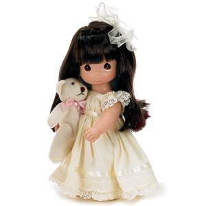 """The Doll Maker Cherish Me Always Baby Doll, Brunette, 12"""""""