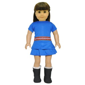 Pink Butterfly Closet Doll Clothes - Blue Gypsy Dress Fits American Girl Dolls, My Life Doll, Our Generation and other 18 inches Dolls
