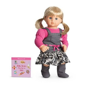 American Girl Bitty Baby Twin Camo Jumper Outfit for Dolls + Book NIB AUTHENTIC