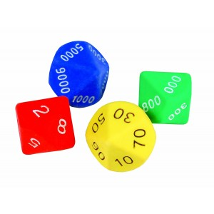Learning Advantage 7426 Place Value Dice (Pack of 4)