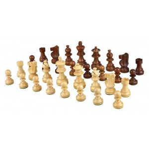 Best Chess Set Morrigano Weighted Wood Chess Pieces – Pieces Only – No Board – 2.5 Inch King