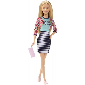 Barbie Fashionistas Doll Floral Top and Striped Skirt - Original