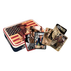 Aquarius John Wayne Flag Playing Card Gift Tin