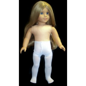 Dori's Boutique Doll Clothes Fits American Girl Doll and Other 18 Inch Dolls, White Tights