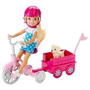 Mattel Barbie Chelsea and Pup Mobile Playset