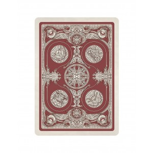Albino Dragon Kingdoms of a New World Playing Cards - Red