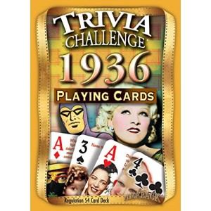 Flickback Media, Inc. 1936 Trivia Playing Cards 81st Birthday or 81st Anniversary Gift