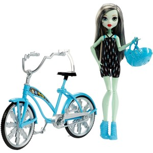 Monster High Boltin' Bicycle Frankie Stein Doll and Vehicle