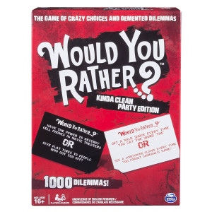 Spin Master Games Adult Would You Rather Board Game