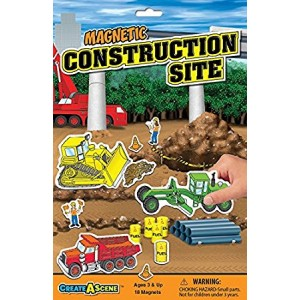 Smethport Specialty Create-a-Scene Magnetic Playset: Construction Site