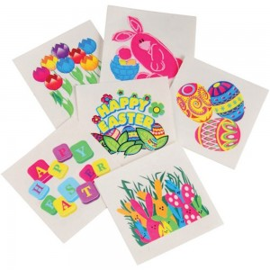 U.S. Toy Lot Of 144 Assorted Easter Theme Temporary Tattoos