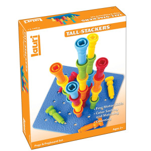 PlayMonster Lauri Tall-Stacker Pegs and Pegboard Set