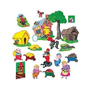 Little Folk Visuals Three Little Pigs Basic Set Felt Figures For Flannel Board Stories Precut
