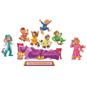 Little Folk Visuals Five Monkeys Jumping on The Bed Felt Figures For Flannel Board Stories