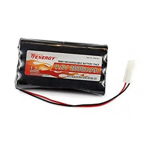 Tenergy 9.6V 2000mAh NiMH High Capacity Battery Pack for RC Cars, boats, Robots, Security