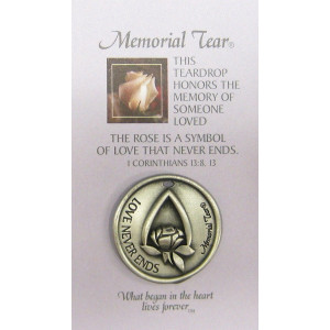 Memorial Tear Pocket Token * Inspirational Pocket Token Coin Remembrance MTPT