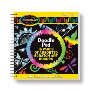 Melissa & Doug Melissa and Doug Scratch Art Doodle Pad With 16 Scratch-Art Boards and Wooden Stylus