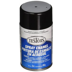 Testors TENAMEL-1247 Aerosol Enamel Paint, 3-Ounce, Gloss Black