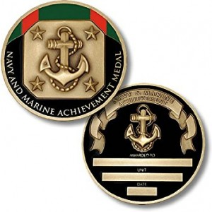 Northwest Territorial Mint Navy and Marine Achievement Medal Coin - Engravable Challenge Coin