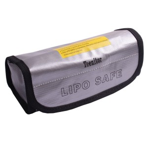 Teenitor Fireproof Explosionproof Lipo Battery Safe Bag Lipo Battery Guard Safe Bag Pouch Sack for Charge and Storage 185x75x60mm Large size