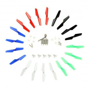 Coolplay Syma X11 X11C for RC Quadcopter Full Set Spare Parts Main Blade Propeller and Motors and Main Gear Set with Shaft and Mounting Screws – Upgraded 5 Colors