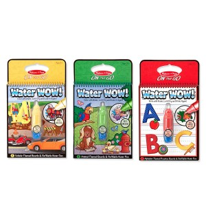 Melissa & Doug Melissa and Doug On the Go Water Wow! Water Reveal Pads Set: Vehicles, Animals, Alphabet