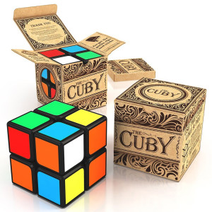 aGreatLife The Cuby - The Best Two-Layer Brain Teaser 2x2 Cube - Perfect For Beginners - Hours of Fun In The Palm Of Your Hand