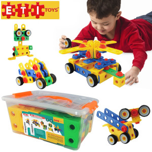 ETI Toys-92 Piece Educational Construction Engineering Building Blocks Set for 3, 4 and 5+ Year Old Boys and Girls. Pure Engaging Fun and STEM Learning Kit! The Best Toy Gift for Kids Ages 3yr – 6yr.
