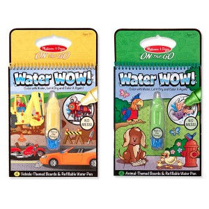 Melissa & Doug Melissa and Doug On the Go Water Wow! Water Reveal Pads, Set of 2: Vehicles and Animals