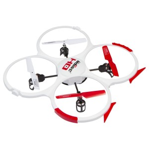 UDI RC UDI 818A HD Drone Quadcopter with 720p HD Camera Headless Mode with Return to Home Function and Extra Batteries in Exclusive White