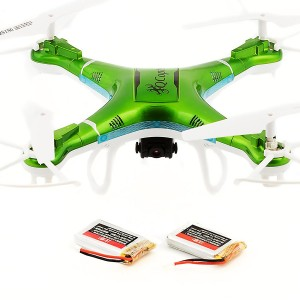 Qcopter Green Drone Quadcopter -Best Drones For Sale With Camera -Experience Longer Flights of 30 Minutes With BONUS Battery -5-Star Customer Service -Brilliant LED Lights -Gyrocopter Flight Stability