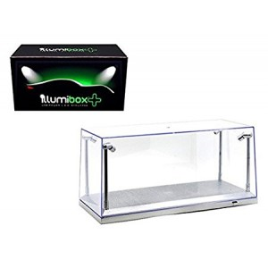 CLEAR DISPLAY SHOW CASE FOR 1/18 SILVER BASE with REPLACEABLE LED LIGHTS by iLLumibox