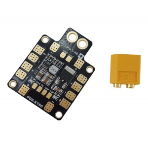 Usmile XT60 Power Distribution Board PDB with 5Vand12V Output Support up to 6 esc for X design FPV Racing Quadcopter Frame