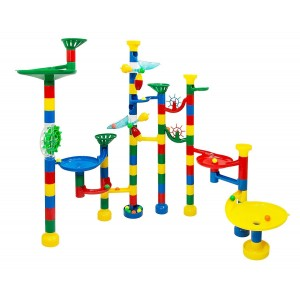 USA Toyz Marble Run 85-Piece Deluxe Marble Track Game with 50 Marbles