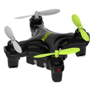 AUKEY Mini Drone with App Wi-Fi Control, One-Key Landing and Take-Off Quadcopter with G-Sensor, Intelligent Fixed-Altitude Hover, 3 Speed Options