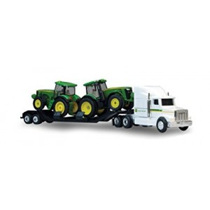 Ertl Collectibles 1:64 John Deere Semi with 8R Tractors