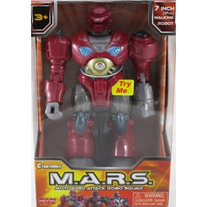 Hap-p-kid M.A.R.S. Motorized Attack Robo Squad - Red Robot