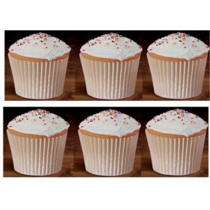 CakeSupplyShop 100 White Large Jumbo Texas Muffin / Cupcake Cups White flutted Cupcake Liners Baking Cups