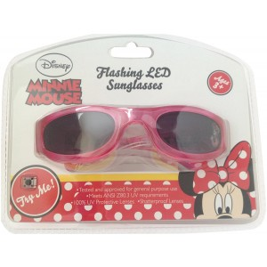 SunTime Disney Minnie Mouse Flashing LED Sunglasses Featuring Minnie Shopping