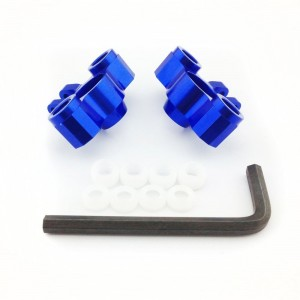 Atomik RC Alloy Front Axle Carriers, Blue fits the Traxxas 1/16 Slash 4x4 and Other Traxxas Models - Replaces Traxxas Part 7034