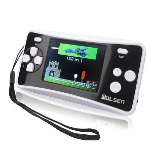 "WOLSEN 2.5"" Color Portable Handheld Game Console w/152 Games and speaker (BLACK)"